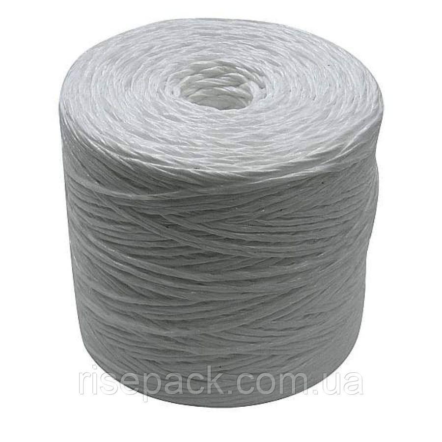 Шпагат полипропиленовый плетеный (белый, первичный пп) для упаковки, обвязки