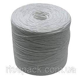 Шпагат поліпропіленовий плетений (білий, первинний пп) для упаковки, обв'язки