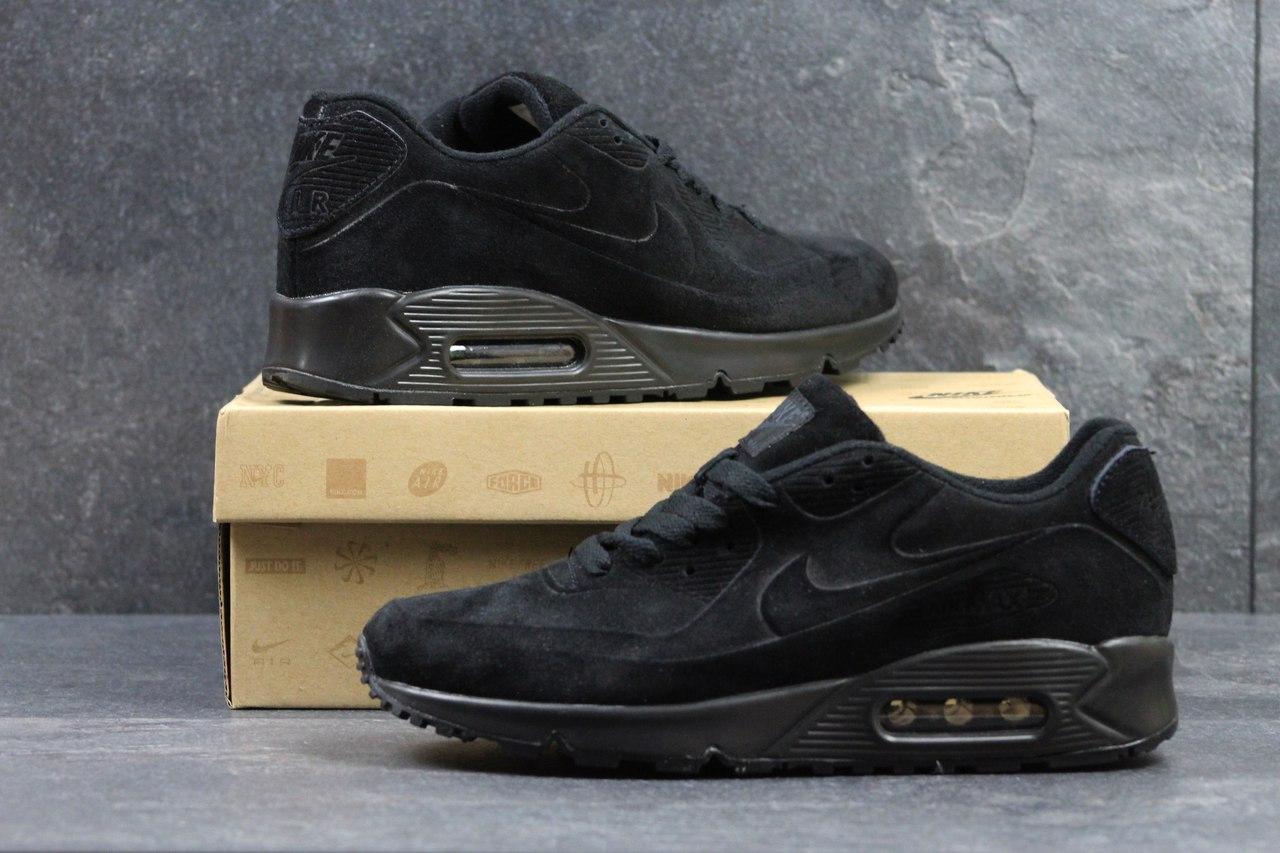 4b6bf7ad412d Мужские кроссовки Nike Air Max 87, замшевые, черные (Реплика) - Интернет-