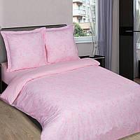 Двуспальное постельное белье с простыней на резинке 160/200/34, Грация-Роза, поплин 100%хлопок