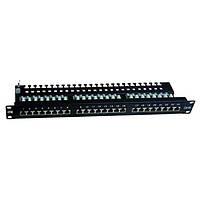 ITK 1U патч-панель кат.5Е STP, 24 порта (Dual), с кабельным органайзером (PP24-1UC5ES-D05)