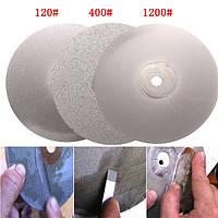 3шт 6 дюймов 120 400 1200 грит алмазный режущий диск алмазный шлифовальный с алмазным покрытием диска