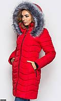 Пальто 333397-5 красный Осень-Зима(М-еш)