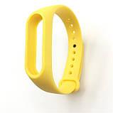 Ремінець для браслета Xiaomi Mi Band 2 жовтий синій фінтес браслет змінний ремінець Ксиаоми мі бенд 2, фото 2
