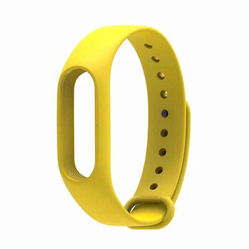 Ремінець для браслета Xiaomi Mi Band 2 жовтий синій фінтес браслет змінний ремінець Ксиаоми мі бенд 2