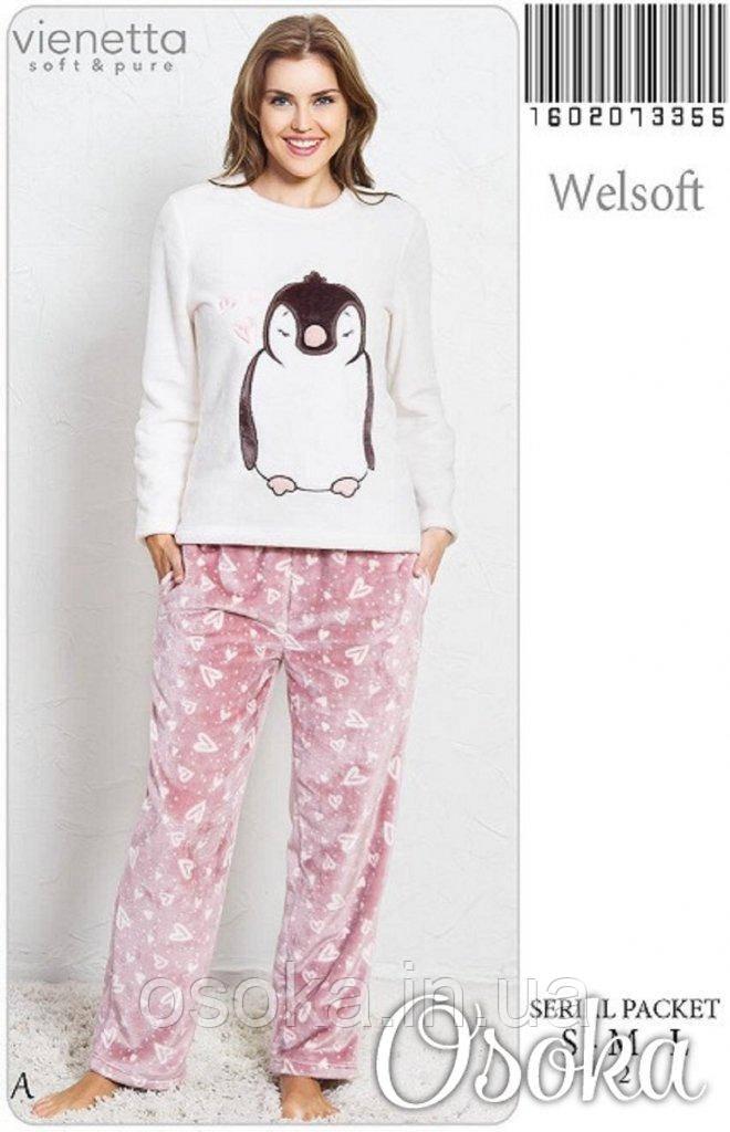 Теплая плюшевая пижама Пингвин Vienetta Secret 3355 - Интернет-магазин