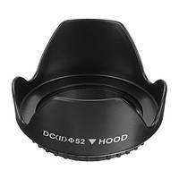Универсальный DCII 52mm винт крепления цветка бленда для Canon Nikon цифровая фотокамера DSLR видео