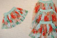 Яркая юбка из нежного фатина