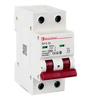 Автоматический выключатель 2 полюса 20А ElectroHouse EH-2.20
