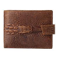 """Кожаный кошелек портмоне """"Aligator big"""" коричневый"""