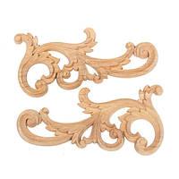 Деревянные резные углу европейский стиль цветочные аппликация шкаф резьба рама