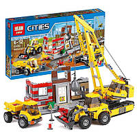 "Конструктор Lepin 02042 (аналог Lego City 60076) ""Площадка для сноса зданий "", 869 дет"