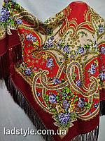 Платок S РАСПИСНОЙ БОЛЬШОЙ 150Х150 цв.17