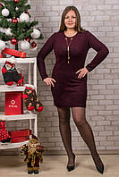 Женское теплое платье с бижутерией. RBOSSI P43. Размер 46-48.