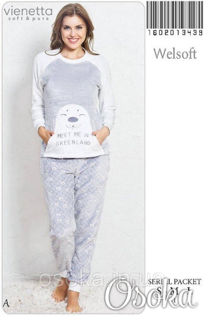4ee0e6fb1e23c Теплая плюшевая пижама Морской Котик Vienetta Secret 3439, цена 755 грн.,  купить в Днепре — Prom.ua (ID#413407779)