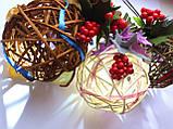 Ялинкова іграшка ручної роботи Ялинкова кулька світиться 7 див. Новорічний декор (хакі), фото 6
