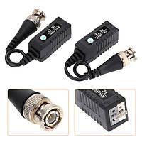 Камеры видеонаблюдения балун видео BNC Видеорегистратор UTP CAT5 одноканальный пассивный штырьковый разъем BZX-206L 2pcs