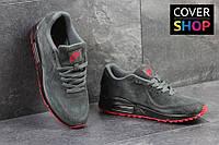 Кроссовки спортивные Nike Air Max 87, серые, материал - замша, подошва - пенка