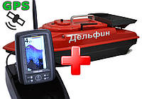 Дельфин-3 TF500 GPS VIP - прикормочный кораблик для рыбалки