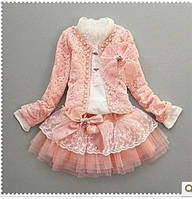 """Нарядный Костюм для девочки с юбкой  и пиджаком """"Королева-2"""""""