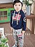 Модный спортивный костюм для мальчика темно синий