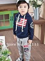 Модный спортивный костюм для мальчика темно синий, фото 1