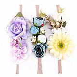 Повязка с цветами на голову для девочки., фото 5
