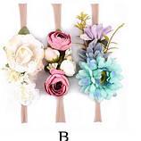 Повязка с цветами на голову для девочки., фото 4