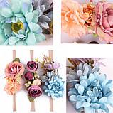 Повязка с цветами на голову для девочки., фото 6