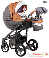 Детская коляска Adamex Monte Deluxe Carbon 2 в 1