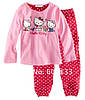 "Хлопковая розовая пижама для девочки "" hello kitty"""