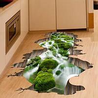 3D поток пола Декор стикер стены Съемные Mural Переводные картинки Виниловые Art Домашнее украшение