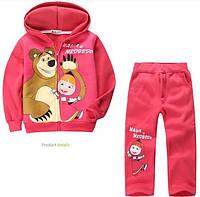 Теплый спортивный костюм для девочки с начесом « Маша  и  Медведь », фото 1