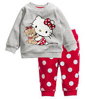 Хлопковая пижама для девочки «Китти с мишкой»