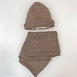 Шапка (набор) для девочек МАРГАРЕТ размер SиМ оптом, фото 3