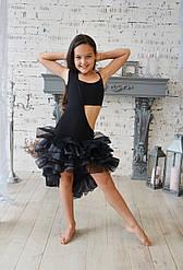 """Платье """"с хвостом"""" из органзы для тренировок и выступлений"""