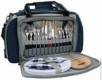 Набор для пикника на 4 персоны в сумке с изотермическим отделом на 20 литров