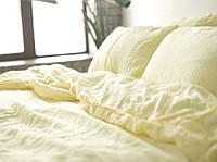 Семейное постельное белье, Ванильный шампань №1403, лен 100%
