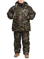 """Зимний костюм """"Темный лес """" для рыбалки и охоты."""