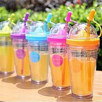 Многоцветные бутылка фрукты Настаивая вода прекрасный спорт сок стакан бутылка чашка чая с соломой