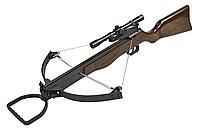 Арбалет блочного типа , винтовочной компоновки.
