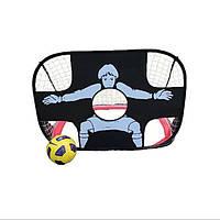 2 в 1 детей обучение футбол цель портативный складной футбол дверь ребенок игра с мячом