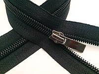 Застежки-Молнии обувные, бегунокВОЛНА 40см (СПИРАЛЬ Тип-7) неразъемные, цвет № 580 черный