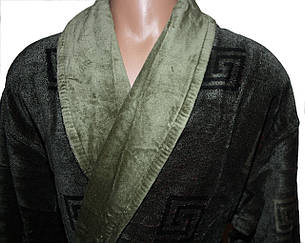 Халат мужской Галакси длинный зеленого цвета, фото 2