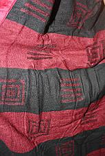 Халат мужской Галакси длинный бордового цвета, фото 3