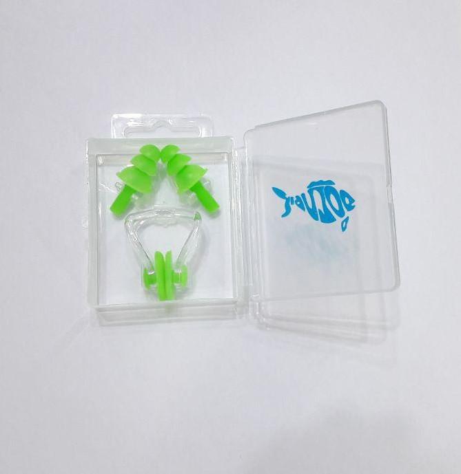 Силиконовые беруши + зажим для носа Dolvor [light-green/салатовый]