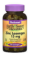 Цинк, Вкус Апельсина, Earth Sweet Chewables, Bluebonnet Nutrition, 60 таблеток для рассасывания