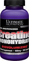 Ultimate Nutrition, Креатин Моногидрат 900мг, 200 капсул