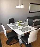 Кухонный стол Raul белый 140x85(180)