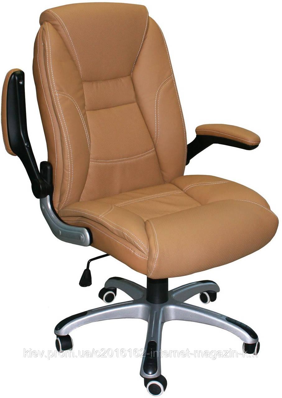 Кресло руководителя кожа CLARK  beige